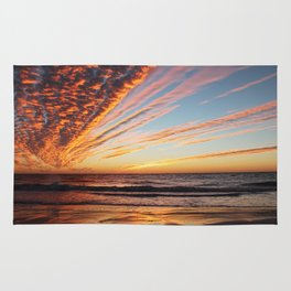 Sunset on the beach. Rug