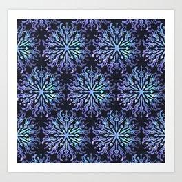 Aura Guidance Mandala Pattern Art Print
