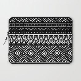 African Mud Cloth // Black Laptop Sleeve