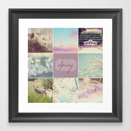 Spring Beauty - Vignette Framed Art Print