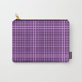 Plaid in black and purple colours . Carry-All Pouch