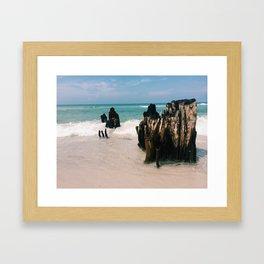Docks Past Framed Art Print
