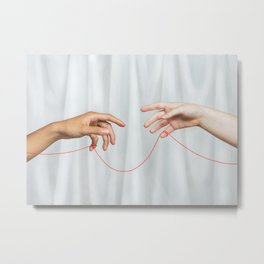 red string of fate Metal Print