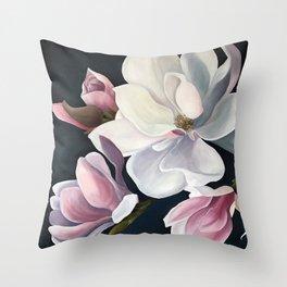 Magnolia Blooms Throw Pillow