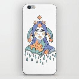 RAIN FACE iPhone Skin