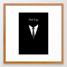 Suit UP - black and white Framed Art Print