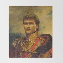 Patrick Swayze - replaceface Throw Blanket