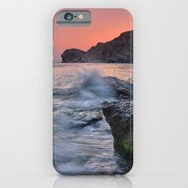 Big Wave. La Joya Beach At Sunset. iPhone Case