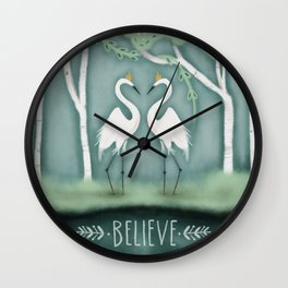 The Crane Princesses Wall Clock