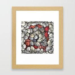 Chaotic 3D Cubes Framed Art Print