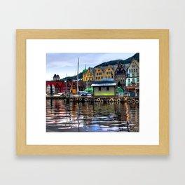 Bergen Harbour Framed Art Print
