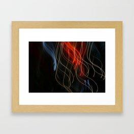 Abstract Drifting Light Trails Framed Art Print