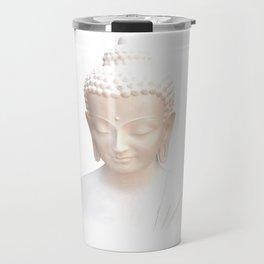Buddha In White | Serene Meditative And Calm Travel Mug