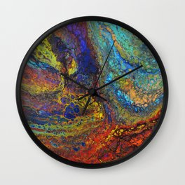 Cauldron of Fire and Ice Wall Clock