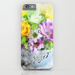 Flowers Vase Artwork iPhone Case