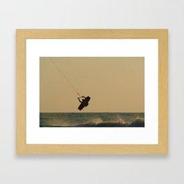 Kite Surfer Jumping Mandrem Framed Art Print