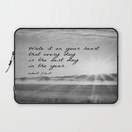 Write It On Your Heart Robert Frost Laptop Sleeve