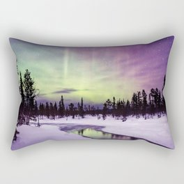 The Northern Lights Rectangular Pillow
