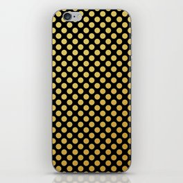 Small gold dots patter iPhone Skin