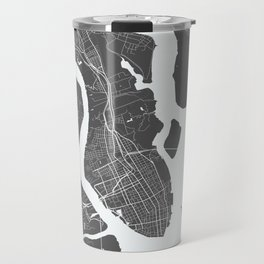 Charleston USA Modern Map Art Print Travel Mug