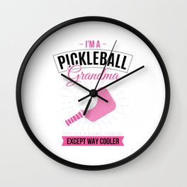 Pickleball Grandma Pickleball Player Gift Women Wall Clock