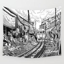 Busy Streets: Maeklong Market Wall Tapestry