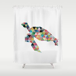 Colorful Geometric Turtle Shower Curtain