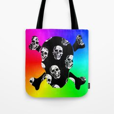 Rainbow Sugar Skull Tote Bag
