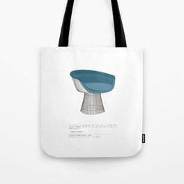 Platner Lounge Chair Tote Bag
