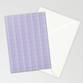 Lilac Abstract Fish Net Loop Pattern Stationery Cards