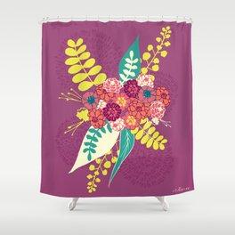 Violet flower bunch Shower Curtain