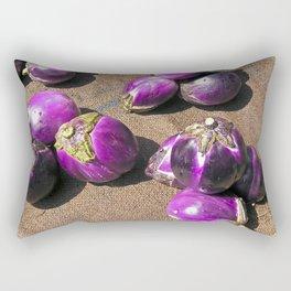 Fresh Aubergines - Market - Sicily Rectangular Pillow
