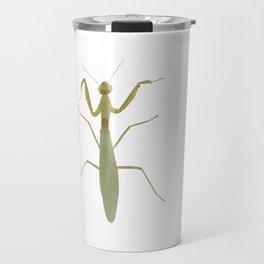 Praying Mantis Green Insect Digital Watercolor Travel Mug