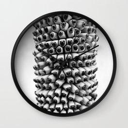 Bananas black and white Wall Clock