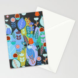 Midnight joyful inflorescence Stationery Cards