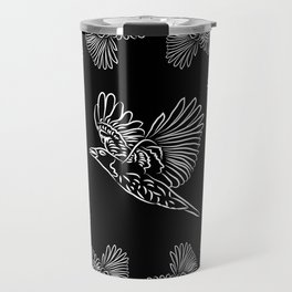 World crows. Crows in different framework, round, square. Travel Mug