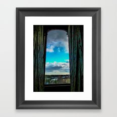 The day through the open window Framed Art Print
