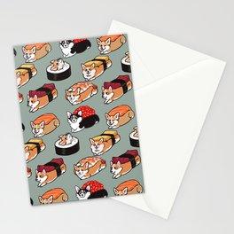 Sushi  Corgi Stationery Cards