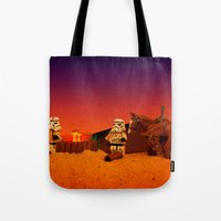 camping Tote Bags featuring Camping by plopezjr