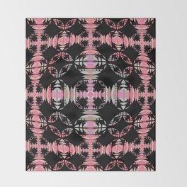 Resonant Ancient Celtic Cross Boho Pink Throw Blanket