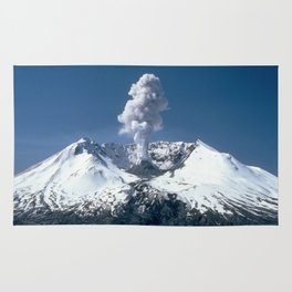 Mount St. Helens 🌋 Volcano  Rug