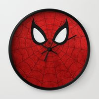 spider man Wall Clocks featuring Spider-Man by theLinC