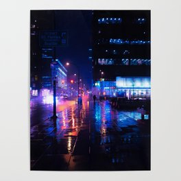 rainy nights in Vancouver Poster