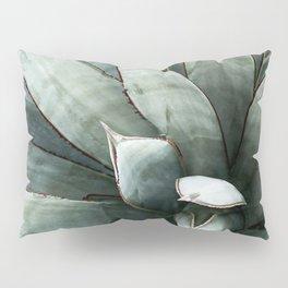 Botanical Succulents // Dusty Blue Green Desert Cactus High Quality Photograph Pillow Sham
