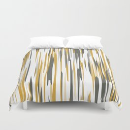 Gold gray and white Duvet Cover