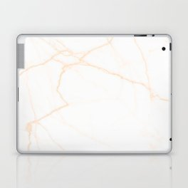 white and gold marble Laptop & iPad Skin