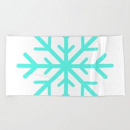 Snowflake (Turquoise & White) Beach Towel