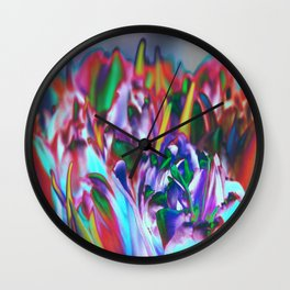 Colored Tulips Wall Clock