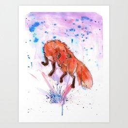 Color Fox Art Print