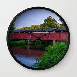 Bogert's Bridge - Wide Angle Wall Clock